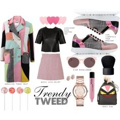 How To Wear Trendy Tweed Pink Love Outfit Idea 2017 - Fashion Trends Ready To Wear For Plus Size, Curvy Women Over 20, 30, 40, 50