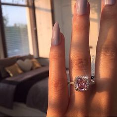 Our Pink Femme Fatale cushion cut ring is too die for at only £26.99