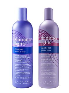 Platinum Blonde Hair Care - Clairol Professional Shimmer Lights Shampoo and Conditioner | allure.com