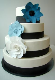 Paper Flower Gatsby Cake by The Butter End