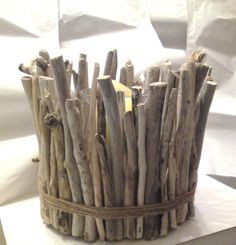 Driftwood Candle Holder  Centerpiece  LARGE 10 inches by Ammoudia, $130.00
