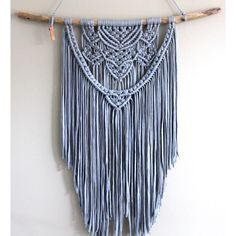 Macramé wandhanger 'Blue Heart'