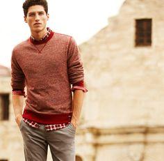Men's Clothing: Find the Hottest Looks in Men's Clothes at Express My Man, My Boyfriend, Dapper, Gentleman, What To Wear, Autumn Fashion, Men Sweater, Handsome, Mens Fashion