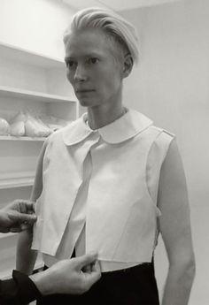 "tilda swinton - fashion performance ""eternity dress"""