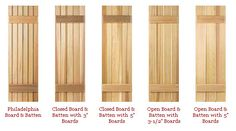 how to build wood exterior shutters