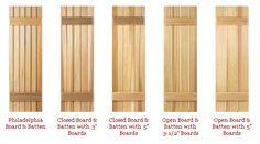 build exterior wood shutters