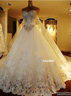 ball gown wedding dress a girl can dream can't she?