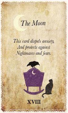 White Magic Tarot Spell Cards - XVIII - The Moon