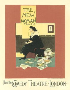 Classic Vintage Poster  The New Woman Art  by HighStreetVintage,
