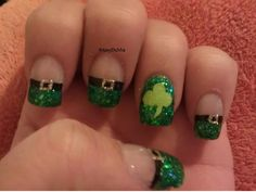 St. Patrick's Day nails...