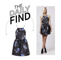"""The Daily Find: Topshop Strappy Floral Jacquard Dress"" by polyvore-editorial ❤ liked on Polyvore featuring Topshop and DailyFind"