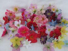 50 Deko Streu Blüten Künstliche Kunst Blumen Seidenblumen Floristik Frühling