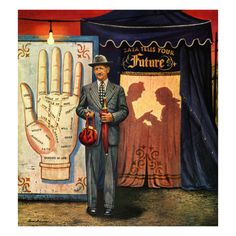 "Stevan Dohanos ""Palmist"" - signage, booth entrance"