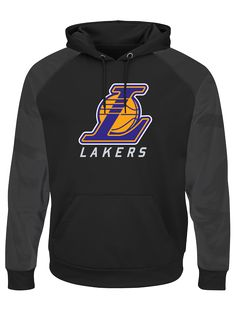 06d08f450 Los Angeles Lakers Majestic Big  amp  Tall Armor II Pullover Hoodie - Black  Los Angeles