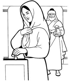 Widows Offering Coloring Page