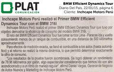 Inchcape Motors: BMW Efficient Dynamics Tour en el diario Del País de Perú (22/01/15)