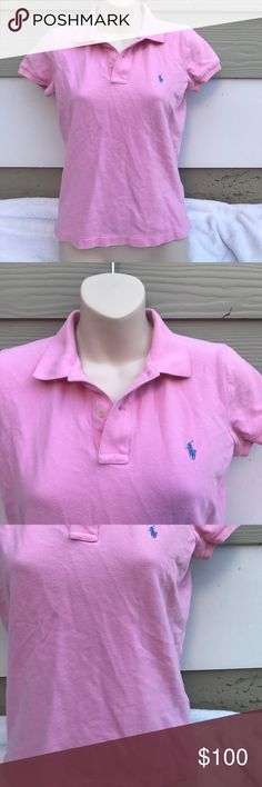 Size M Ralph Lauren slim fit pink polo shirt Size M Ralph Lauren slim fit pink polo shirt Ralph Lauren Tops Blouses
