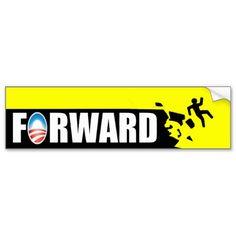 Anti Obama - Forward - off a cliff Bumper Stickers