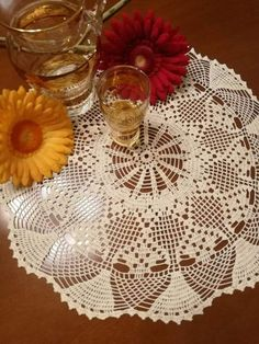 Check out this item in my Etsy shop https://www.etsy.com/listing/502249486/beige-crochet-lace-doily-tabletopper
