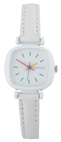 Horloges!! Watch The Moneypenny white CMYK by Komono at stealtheroom.com