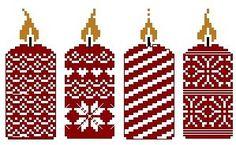 Bougies de Noël - 21 x 55 points