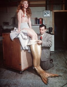 "Vintage Glamour Girls: Ann Blyth in "" Mr. Peabody and the Mermaid """
