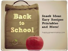 Back to School Organization: Easy Recipes, Snack Ideas, FREE Printables! - Five Spot Green Living