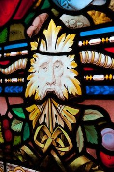 Green Man in Stained Glass