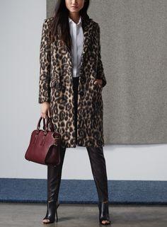 burberry london | croasdale leopard print wool & alpaca reefer coat @nordstrom