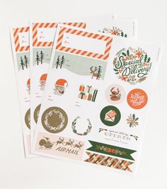 too bad they're sold out :( // Rifle Paper Co. Illustrated Gift Stickers from Urbanic Paper Boutique
