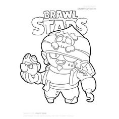 Brawl Stars Coloring Pages Sandy Super Easy Drawings, Star Coloring Pages, Almost Always, Illustrations And Posters, Game Design, Crow, Sailor Moon, Art Drawings, Pokemon