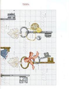 ru / Фото - 798 - - Key cross stitch page 2 Cross Stitch House, Beaded Cross Stitch, Cross Stitch Borders, Crochet Cross, Cross Stitch Charts, Cross Stitch Designs, Cross Stitching, Cross Stitch Embroidery, Cross Stitch Patterns