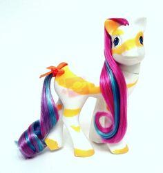 Vintage G1 My Little Pony 10th Anniversary Color Swirl LOVEBEAM ~ Lovely!