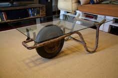 #wheelbarrow #table #for #livinroom #recycle #wood #Pallets for #Decoration #Interior #Designs   Pallets table livinroom