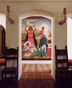 Mexican Mural - Hacienda Rivera style in a home.