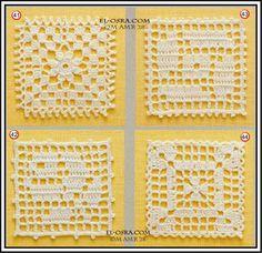 وحدات مربعه من الكروشيه - منتديات عالم حواء
