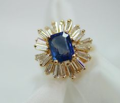 Vintage Sapphire and Diamond Ballerina Cocktail by marrymejewelry