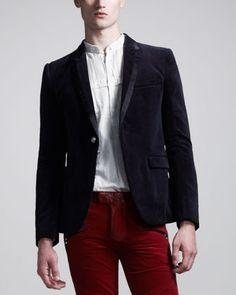 Balmain Chain-Link Tuxedo Jacket - Bergdorf Goodman