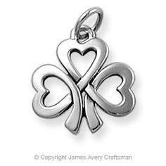 Shamrock of Hearts Charm - I'm Irish, I see this as representing my three kids. LOVE IT! Do want.