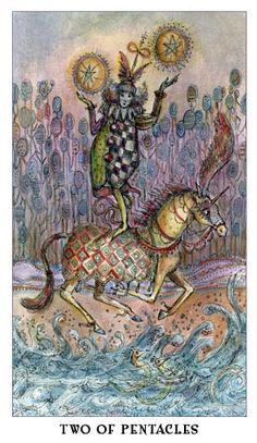 Queen of Swords Tarot: Daily Card - 2 of Pentacles (Paulina Tarot)