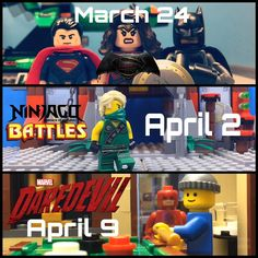 Here's what's coming :) Time to mark your calendars! (Exact time for all 3 vids: 7PM EST) by legodarkknightstudio
