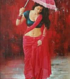 Buy Red-Violet oil Painting by artist Kamal Rao on Canvas, Figurative based on theme . Size is 36 × 48 × 0 in. Shipping is from India. Authenticity certificate will be provided for original artworks. Indian Women Painting, Indian Art Paintings, Abstract Paintings, Oil Paintings, Sexy Painting, Woman Painting, Painting Tips, Figure Painting, Painting Art