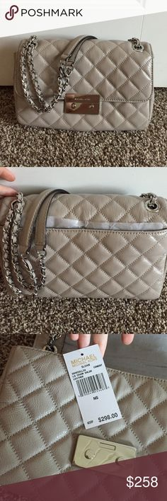 Sloan hand bag in cement Brand new in the current collection @ Michael Kors. This bag has never been used and still has tags attached I will not accept any offers. My price is final. Michael Kors Bags Shoulder Bags