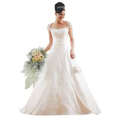 GEORGE BRIDE Capped Sleeves Satin Princeless Wedding Dress Size 6 White GEORGE BRIDE,http://www.amazon.com/dp/B0097IWQF8/ref=cm_sw_r_pi_dp_oz28qb1J8ENQ2B5G