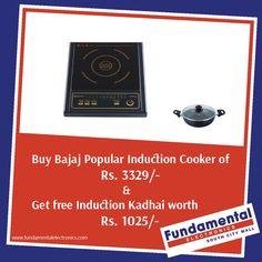 Bajaj Popular Induction Cooker: Superfast cooking for the new generation....visit: www.fundametalelectronics.com