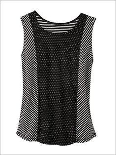 43f4b887199d8 Pattern Play Reversible Tank by D D Lifestyle