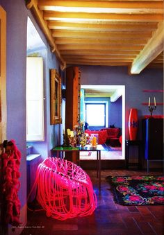 Design consultant Stephan Hamel's ancient cottage From 'Fun House', a story on page 150 of Vogue Living Nov/Dec Photograph by Paul Barbera. Interior Rugs, Bohemian Interior, Interior Styling, Interior Decorating, Bohemian Furniture, Bohemian Design, Funky Home Decor, Eclectic Decor, Mediterranean Design