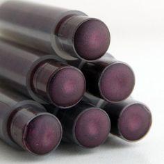 Goth Plum Lipstick . MORTICIA Mineral Lipstick . Dark Purple Lipstick