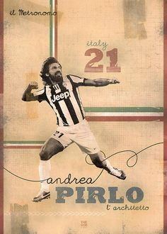 The Gods Of Football (Part I) by Marija Marković on Behance — Andrea Pirlo, #21, italy