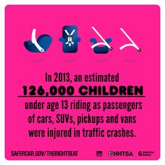 In 2013, an estimated 126,000 children under age 13 riding as passengers of cars, SUVs, pickups and vans were injured in traffic crashes. Parents, keep your kids safe! Visit safercar.gov/therightseat, or our CPS resources page at tntrafficsafety.org/cps to find out how.   #isaluteCPS #TheRightSeat #CPSWeek